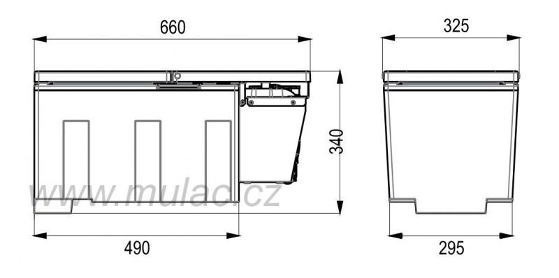 Kompresorová autochladnička TB27AM Indel B 26litrů č. 2