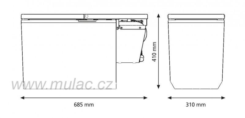 Kompresorová autochladnička TB30AM Indel B 12/24V pro Mercedes Actros MP4 č. 4