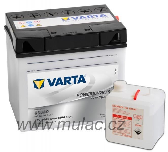 Motobaterie 530400 VARTA YB30L-B 12V 30Ah 300A č. 1