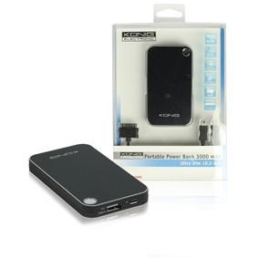 Přenosný USB Li-Ion akumulátor 5V/3000mAh Power Bank, KN-PBANK3000 č. 1