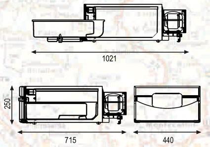 Vestavná kompresorová autochladnička TB36AM Indel B 12/24V, 36litru, termostat č. 4