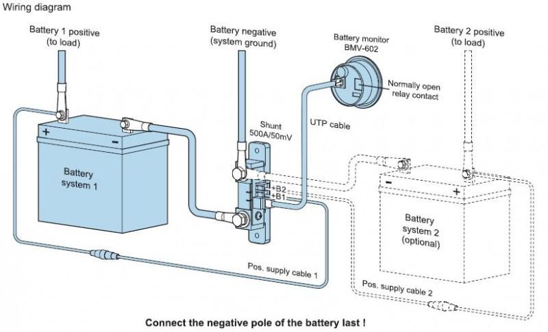 BMV 602S sledovač stavu 2 baterií 9,5-95VDC 20-9999Ah č. 2