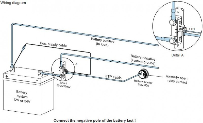 BMV 700S sledovač stavu 1 baterie 9,5-95VDC 20-9999Ah č. 2
