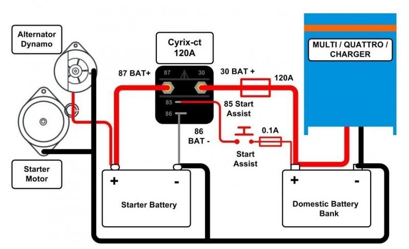Cyrix-ct 12/24V 120A bateriové propojovací relé č. 2