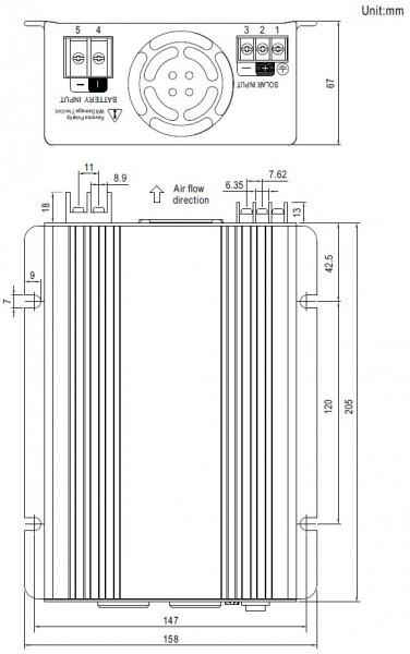 Měnič napětí ISI-500-248, 48V na 230V 500W + MPPT regulátor č. 2