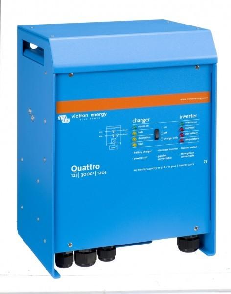Quattro 12/3000/120-50/30. měnič napětí / nabíječ / UPS. 12V 120A 3000W č. 1