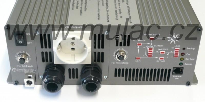 TN-3000-248B Měnič napětí DC/AC 48V na 230V 3000W sínus pro solární apliakace  s funkcí UPS č. 2