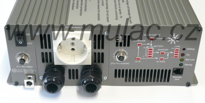 TN-3000-224B Měnič napětí DC/AC 24V na 230V 3000W sínus pro solární apliakace  s funkcí UPS č. 2