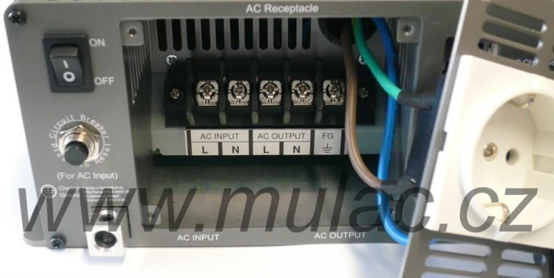 TN-3000-224B Měnič napětí DC/AC 24V na 230V 3000W sínus pro solární apliakace  s funkcí UPS č. 3