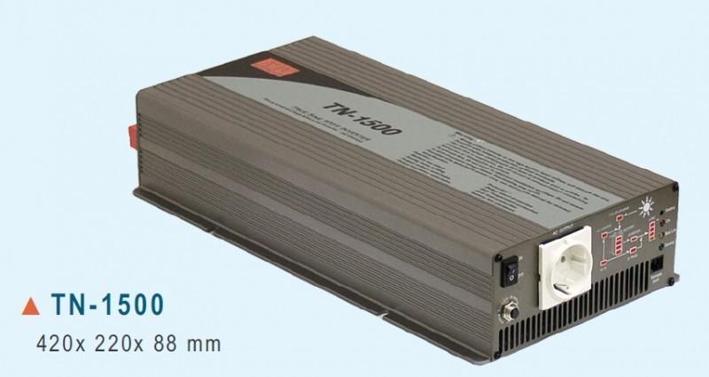TN-1500-212B měnič napětí DC/AC 12V na 230V 1500W sínus pro solární aplikace s funkcí UPS č. 1