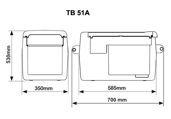 Autochladnička Indel B TB51A kompresorová 12/24/230V č. 8