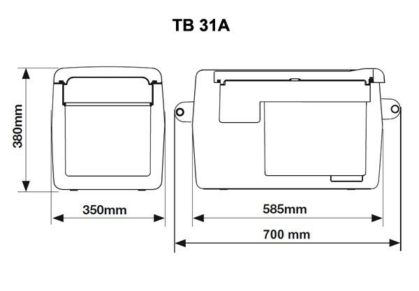 Autochladnička Indel B TB31A kompresorová  č. 7