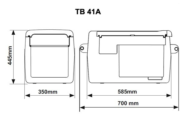 Autochladnička IndelB TB41A kompresorová 12/24/230V č. 7