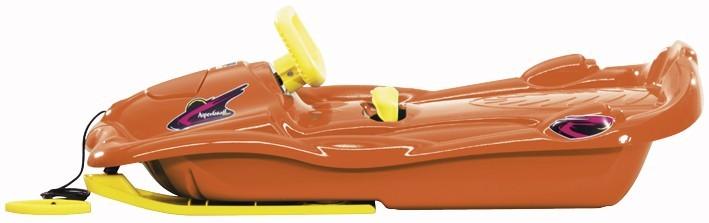 Řiditelné dětské boby AlpenSpace oranžové s volantem č. 2