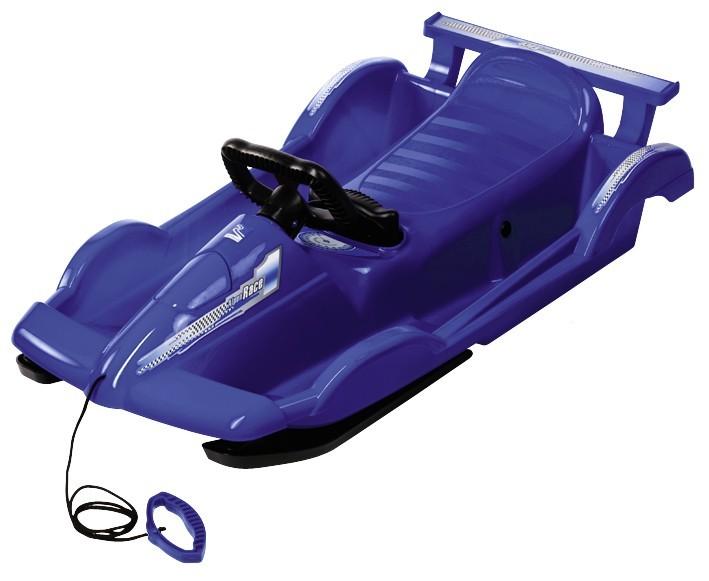 Řiditelné dětské boby AlpenRace modré s volantem č. 1