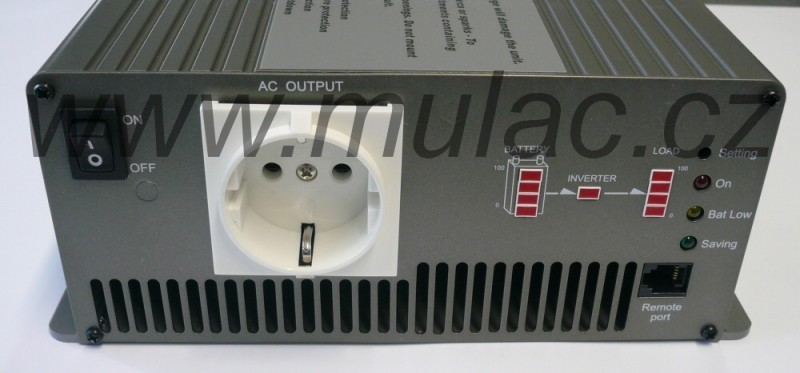 TS-1500-248B Měnič napětí sínusový 48V na 230V 1500W, DC/AC měnič napětí č. 2