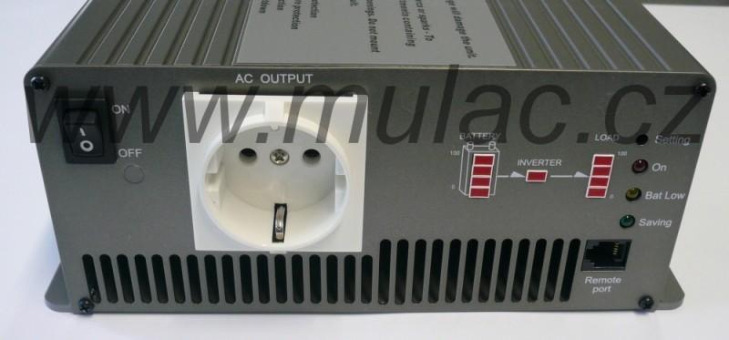 TS-1500-224B Měnič napětí sínusový 24V na 230V 1500W, DC/AC měnič napětí  č. 2