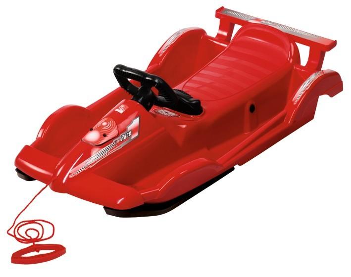 Řiditelné dětské boby AlpenRace červené s volantem č. 1