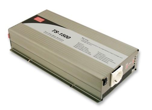 TS-1500-212B měnič napětí sínusový 12V na 230V 1500W, DC/AC měnič napětí.