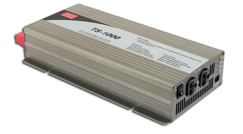 TS-1000-212B měnič napětí sínusový 12V na 230V 1000W, DC/AC měnič napětí  č. 1