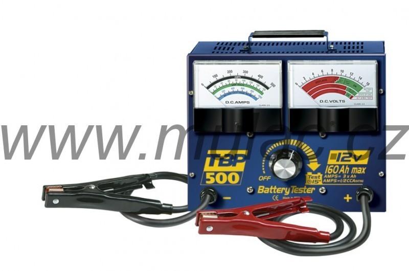 Zátěžový analogový tester autobaterií, test až do 500A.  č. 1
