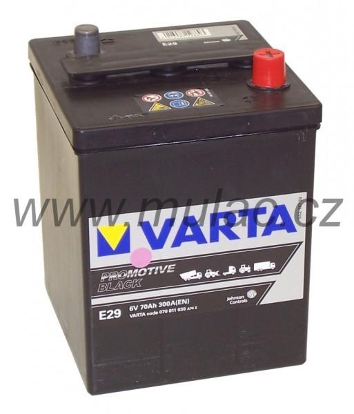 Autobaterie Varta ProMotive BLACK 070011, 6V / 70Ah / 300A č. 1