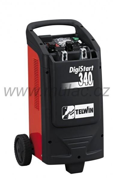 Digitální nabíječ Telwin DIGISTART 340 s funkcí pomocného startu až 300A č. 1