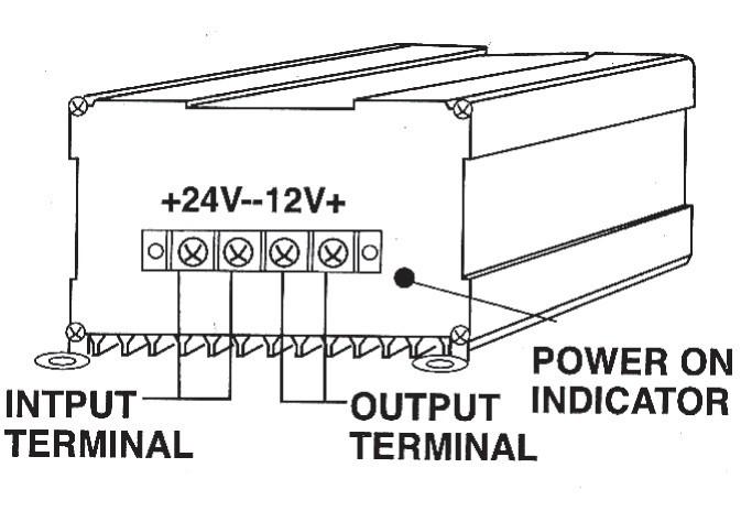 Měnič DC/DC 24V na 12V 10A, HQ-CONV.DC10A č. 4