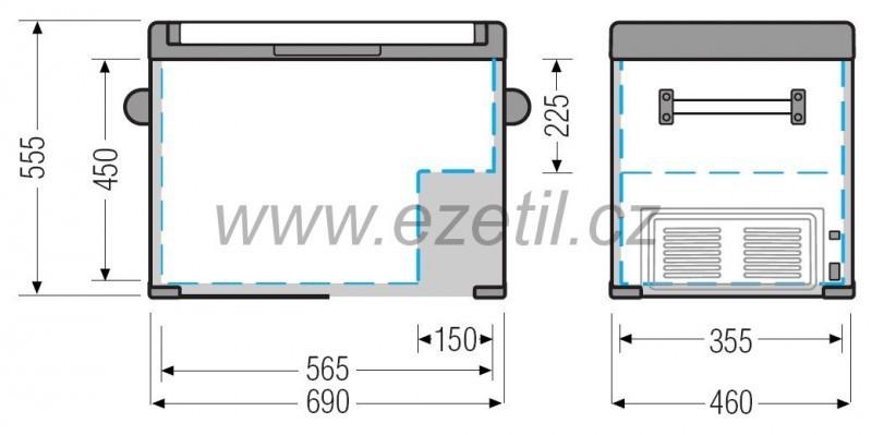 Kompresorová autolednice EZC80 12/24/230V 80 litrů č. 3