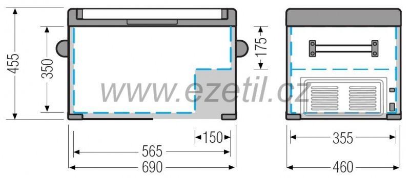 Kompresorová autolednice EZC60 12/24/230V 60litrů č. 4