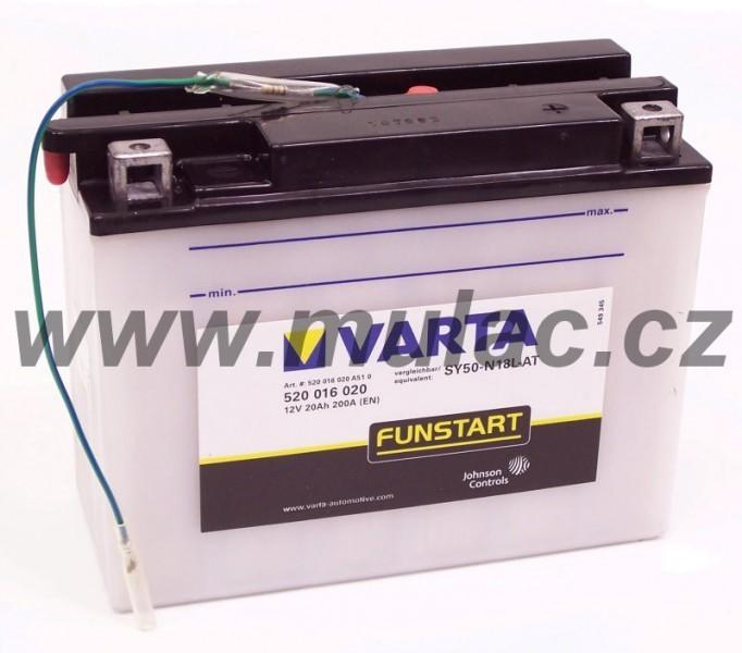 Motobaterie VARTA 520016 SY50-N18L-AT 12V 20Ah 200A č. 1