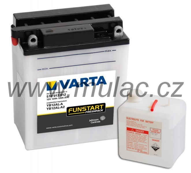 Motobaterie VARTA 512013 YB12AL-A, YB12AL-A2  12V 12Ah 120A č. 1