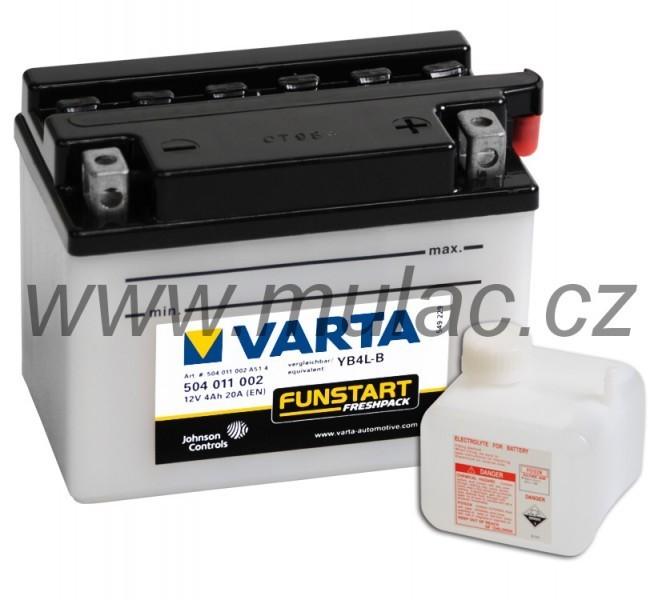 Motobaterie VARTA 504011 YB4L-B 12V 4Ah 20A č. 1