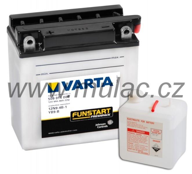 Motobaterie VARTA 509014 YB9-B, 12N9-4B-1 12V 9Ah 80A č. 1