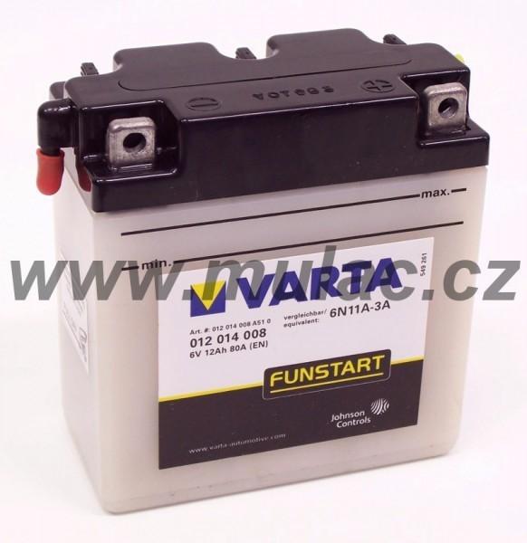 Motobaterie 012014 VARTA 6V/12Ah/ 80A (!zasíláme pouze suchou!) č. 1