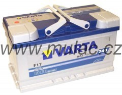 Autobaterie 580406 VARTA BLUE 12V/ 80Ah/740A č. 1