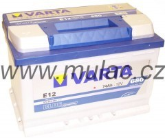 Autobaterie 574013 VARTA BLUE 12V/ 74Ah/680A č. 1