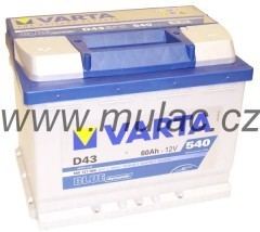 Autobaterie 560127 VARTA BLUE 12V/ 60Ah/540A č. 1