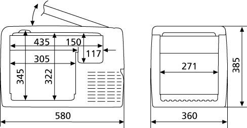Autolednice Waeco  CF-35 12/24/230V kompresor č. 2