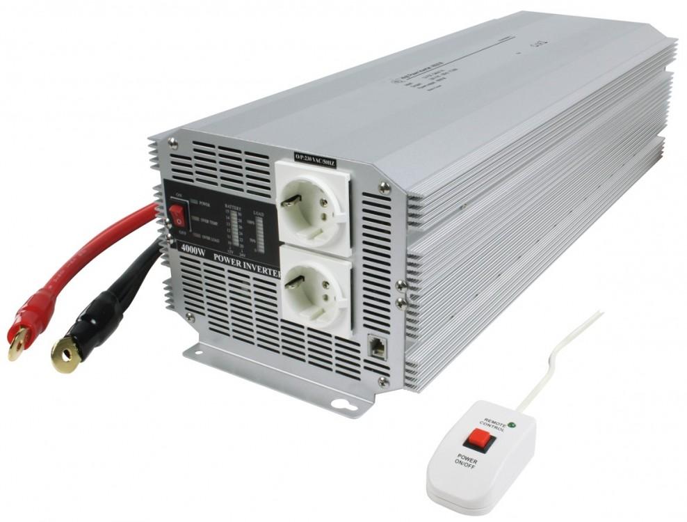 Měnič napětí 12V/230V 4000W HQ měnič napětí DC/AC č.1