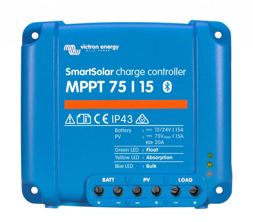 Obrázek: SMART Solar MPPT 75/15, solární regulátor 12/24V 15A 75V s Bluetooth