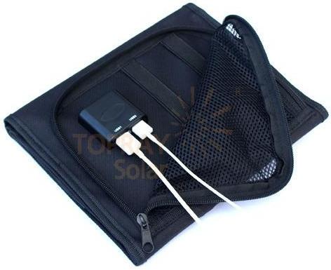 TPS-956 14Wp solární dobíječ 2x USB skládací č.2