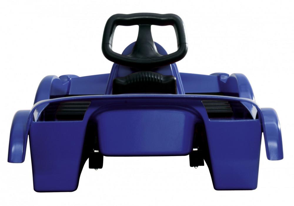 Řiditelné dětské dvoumístné boby DoubleRace modré s volantem č.2