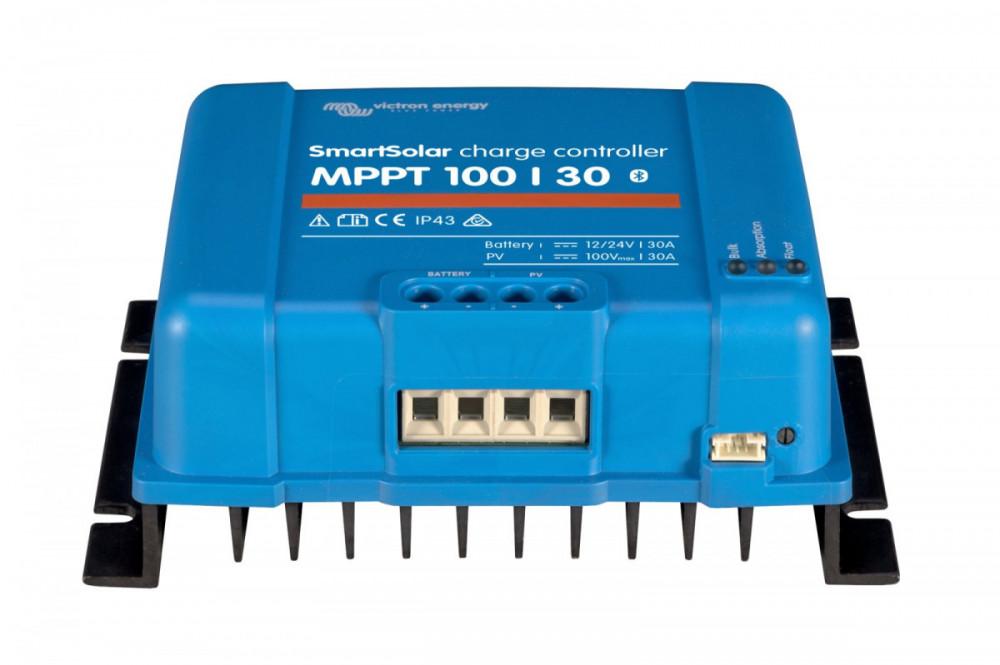 SMART Solar MPPT 100/30, solární regulátor 12/24V 30A 100V s Bluetooth spodní pohled