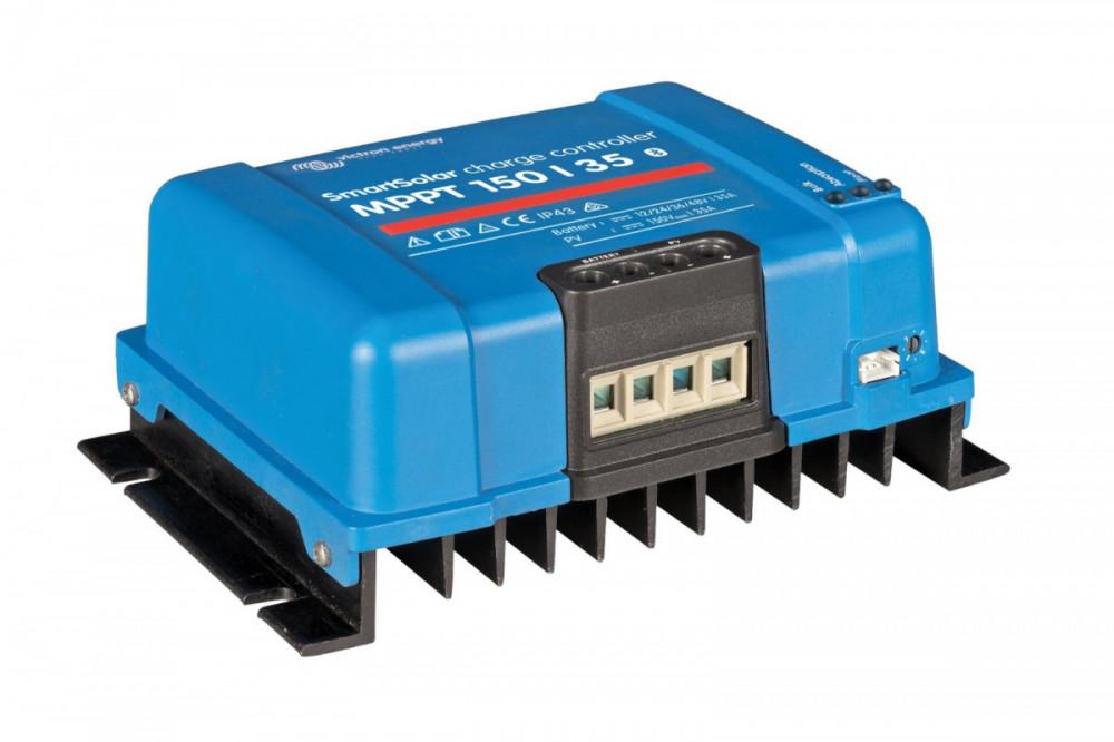 Špičkový ultra rychlý MPPT solární regulátor 35A, až do 150V solárních panelů. Napětí baterie 12/24/48V. Bluetooth zabudované rozhraní. pohled 2