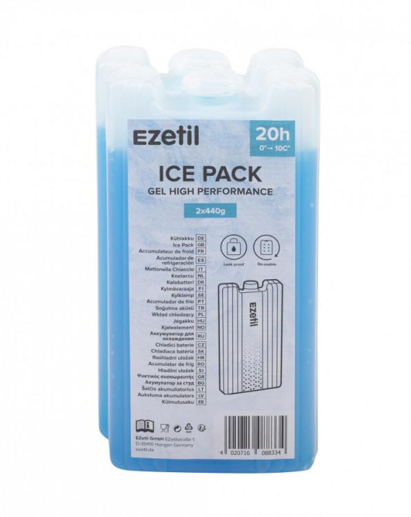 Chladící vložky do termotašky 2x440g GEL 20h Ezetil