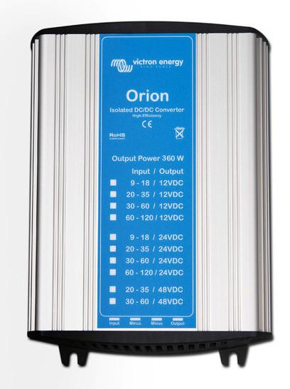Orion 110V na 242V 15A (360W) izolovaný DC/DC měnič