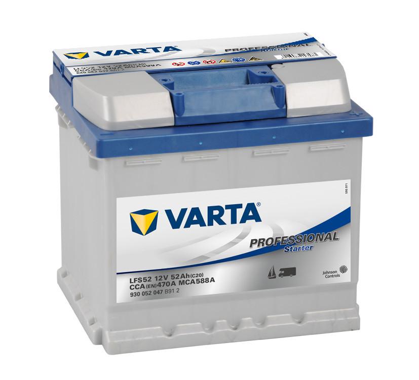 VARTA 12V 52Ah 470A PROFESSIONAL 930 052 047, 552400