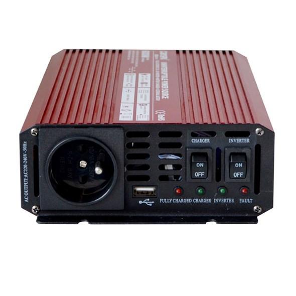 CARSPA měnič s nabíječkou 10A, 12V na 230V 600W č.2