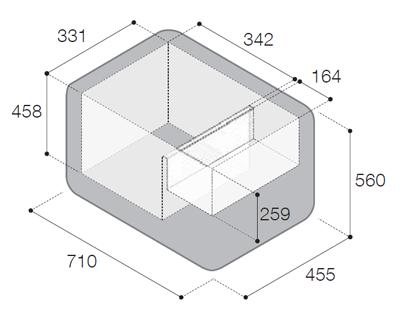 rozměry vitrifrigo vf65p